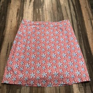 Vineyard vines starfish skirt 2 blue pink